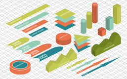 Flat 3d isometric infographic. For your business presentations Royalty Free Stock Image