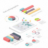 Flat 3d isometric infographic for your business presentations. Stock Photo