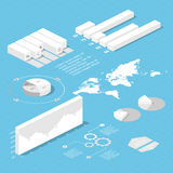 Flat 3d isometric infographic for your business presentations. Royalty Free Stock Photos