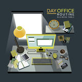 Flat 3d isometric office routine illustration Royalty Free Stock Photo
