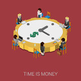 Flat 3d isometric style modern time is money infographic concept. Flat 3d isometric style modern time is money web site infographic concept. Conceptual Stock Photo
