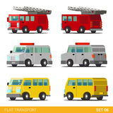 Flat 3d isometric transport icon set: emergency service Stock Photos