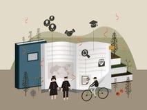 Flat 3d isometric university graduation illustration Stock Image