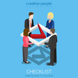Flat 3d isometric vector check list mark business checkmark sign Royalty Free Stock Images