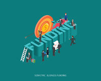 Flat 3d isometric vector illustration funding concept design, Abstract urban modern style, high quality business series Stock Photography