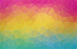 Flat 2D multicolor abstract triangle shape background Stock Images