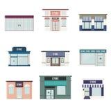 Flat 3D Stores Royalty Free Stock Photos