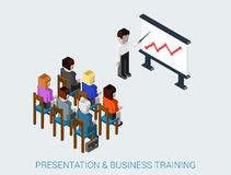 Flat 3d web isometric business meeting, skull session, council Royalty Free Stock Photography