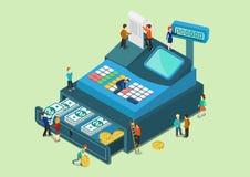 Flat 3d web isometric infographic money finance cash concept Stock Image