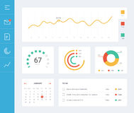Flat dashboard ui royalty free illustration