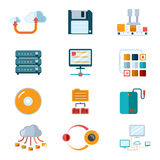 Flat data icons Royalty Free Stock Images