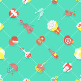 Flat Dating Love Wedding Seamless Background Pattern Royalty Free Stock Images