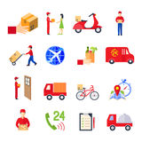 Flat Delivery Icon Set Royalty Free Stock Image