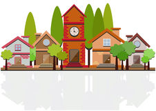 Flat desig with houses Stock Image