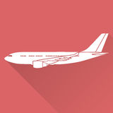Flat design aircraft Royalty Free Stock Image