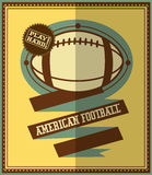 Flat design. American football retro poster Royalty Free Stock Images