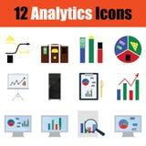 Flat design analytics icon set Stock Photos