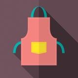 Flat Design Apron stock illustration