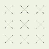 Flat design arrow, set of symbols, logo template Royalty Free Stock Photography