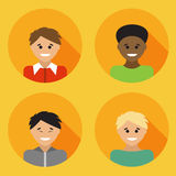 Flat design avatar set of multiracial people Royalty Free Stock Images