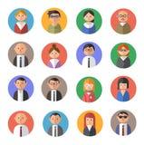 Flat design avatars Stock Photography