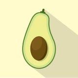 Flat Design Avocado Icon Stock Photos