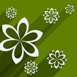 Flat design background with abstract flowers Stock Images