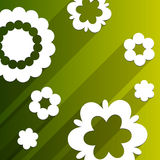 Flat design background with abstract flowers Royalty Free Stock Photography