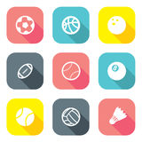 Flat Design Ball Icons Royalty Free Stock Photos