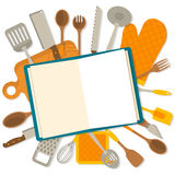Flat design banner of kitchenware  Royalty Free Stock Photo