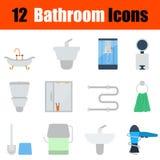 Flat design bathroom icon set Royalty Free Stock Image