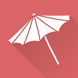 Flat design beach umbrella Stock Photo