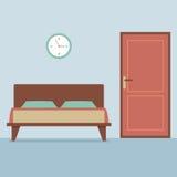 Flat Design Bedroom Interior Royalty Free Stock Photo