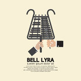 Flat Design Bell Lyra With Hands Royalty Free Stock Images