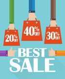 Flat design best sale, shopping bag Stock Images