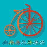 Flat design: bicycle Royalty Free Stock Images