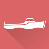 Flat design boat Royalty Free Stock Photo