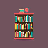 Flat Design Book Cabinet Stock Images