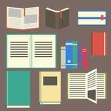 Flat design book Stock Photography