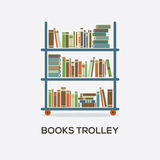 Flat Design Books Trolley Royalty Free Stock Photography
