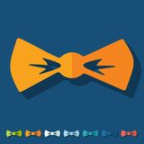 Flat design: bow tie Stock Photos