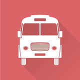 Flat design bus Stock Image