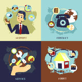 Flat design for business customer service concepts. Set Royalty Free Stock Image