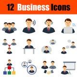 Flat design business icon set Stock Photography