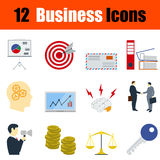 Flat design business icon set Royalty Free Stock Photography