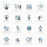 Flat Design Business Icons Set. Stock Photos