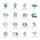 Flat Design Business Icons Set. Royalty Free Stock Photos
