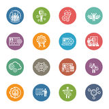 Flat Design Business Icons Set. Royalty Free Stock Photo