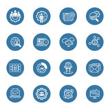 Flat Design Business Icons Set. Royalty Free Stock Photography