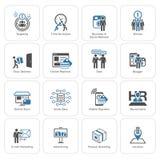 Flat Design Business Icons Set. Royalty Free Stock Image